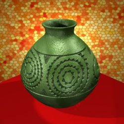Green Caddo Jar - Blender 3D Model