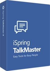 Box containing iSpring TalkMaster software