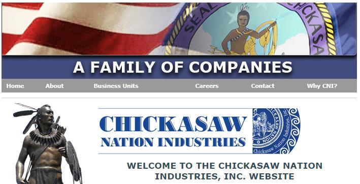 Screenshot of CNI website, circa 2007.