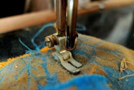 Nahaufnahme einer alten Nähmaschine