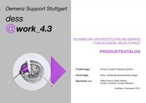 """Titelbild des Produktkatalogs. Es ist ein Teller zu sehen, auf dem verschiedene technische Hilfen """"angerichtet"""" sind."""