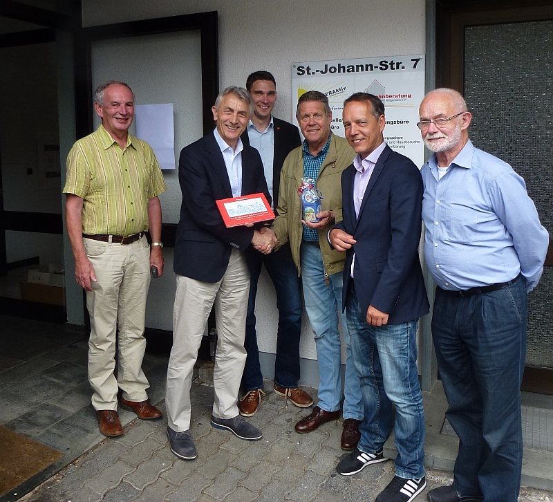 Foto: Klaus Reifenrath; vlnr: Alois Michalek, Franz-Ludwig Blömker, Heiko Becker, Willi Brase, Erik Rahn, Erich Kerkhoff