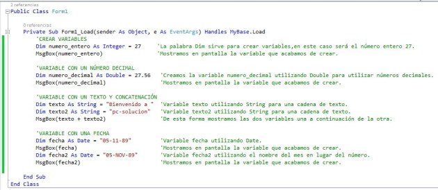 variables y tipos visual basic