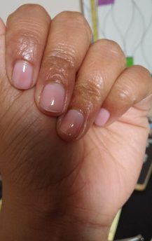 Two coats of pink jelly