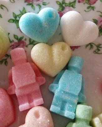Fancy sugar cubes