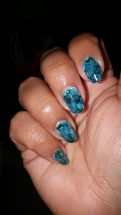 Green marble manicure