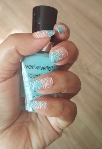 Mint-Coral Gradient Stamping