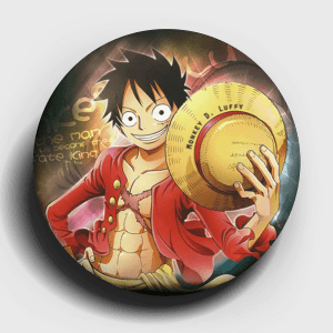 One Piece Luffy Button Pin