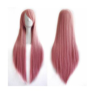 Straight Long Pink Wig