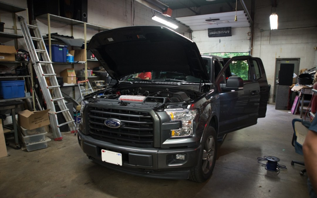 Brand new Ford F150 2017 front speakers and amps install