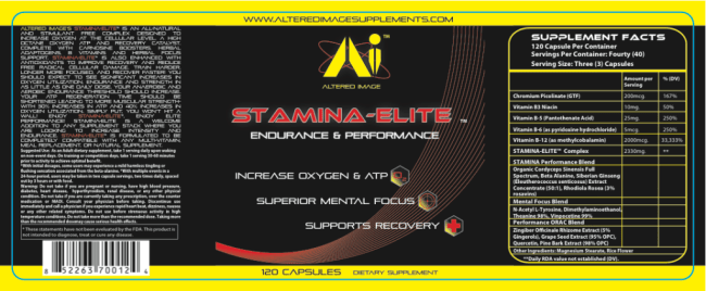 Stamina-Elite:Energy & Performance, increase oxygen & ATP, Superior mental focus, Supports recovery