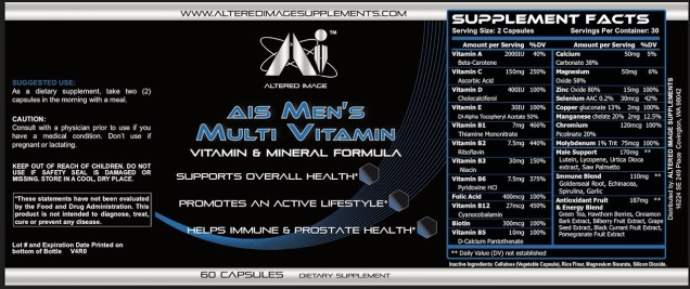 AIS Mens Multi Vitamin