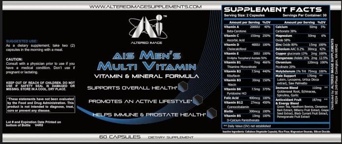 AIS Mens Multi Vitamin