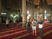 Us inside the mosque witnessing Al Dohur.