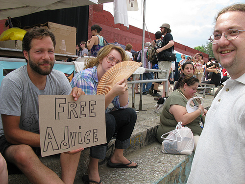free advice at renegade craft fair - CC Flickr/arimoore