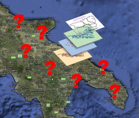 Un compendio dei dati cartografici in Puglia