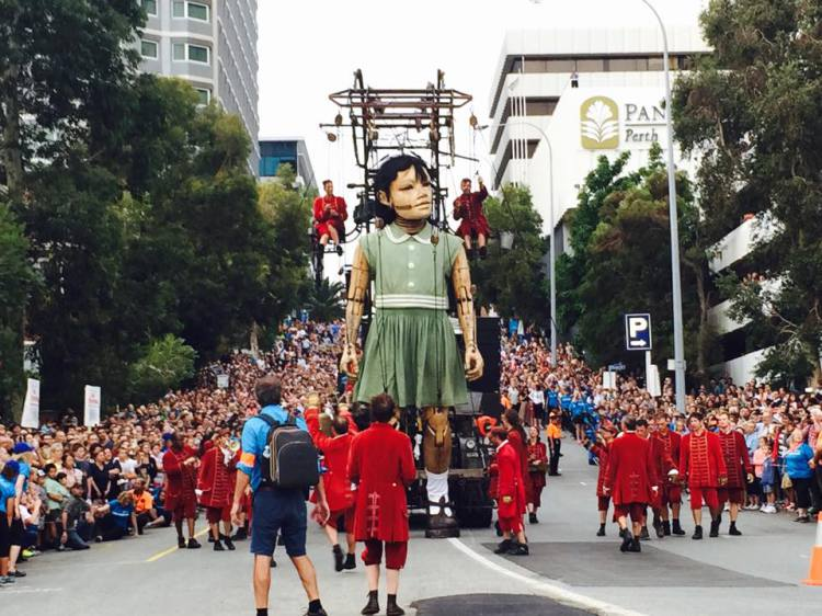 Royal de Luxe's Monumental Puppets Descend on Perth, Australia for a Three-Day Performance