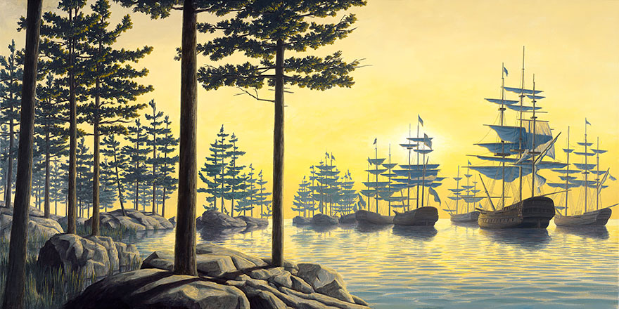 25 Mind-Bending Optical Illusion Paintings By Rob Gonsalves