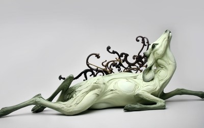 Extremes of Human Nature Explored through Hand-Built Stoneware Animals by Beth Cavener Stichter