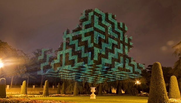 Light Projections by Javier Riera