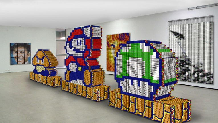 Rubik's Cube Mosaic Art by Cube Works