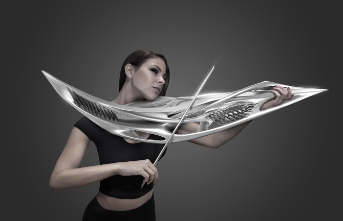 Piezoelectric Violin: The 3D Instrument From The Future