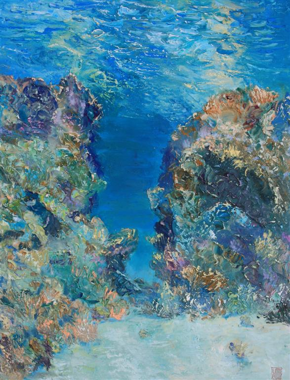 Guinness World Record Breaker Alexander Belozor Paints Underwater - 5