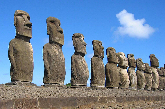 "Easter Island : The ""Walking"" Statues"