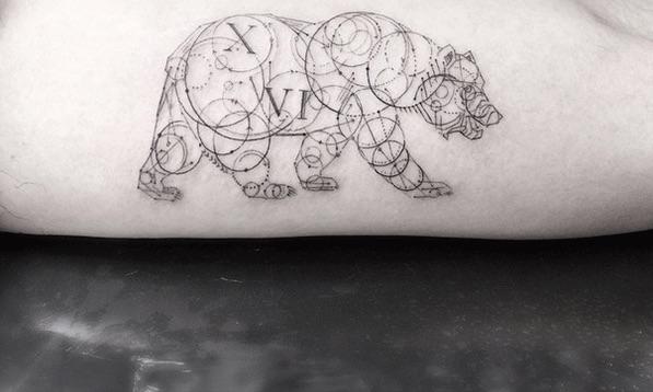 Geometric Fine Line Tattoos by LA's Famous Dr. Woo