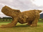 Giant Straw Dinosaurs Invade Japanese Fields