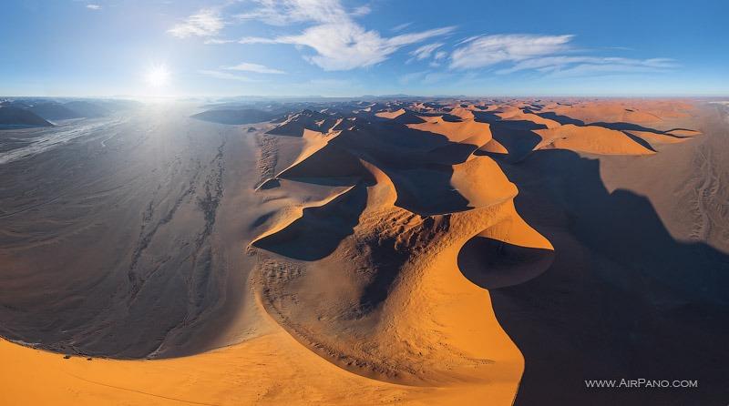 Namib Desert, Sossusvlei, Namibia • 360° Aerial Panoramas