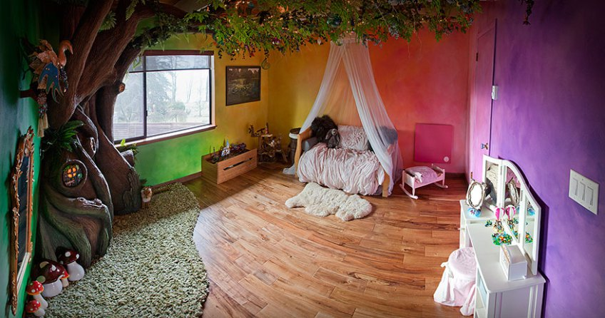 Dad Transforms Daughter's Bedroom Into Fairytale Treehouse