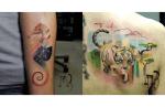 Pixelated Animal Tattoos By Lesha Lauz