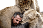 Incredible Bond Between A Man And His Pride Of Big Cats