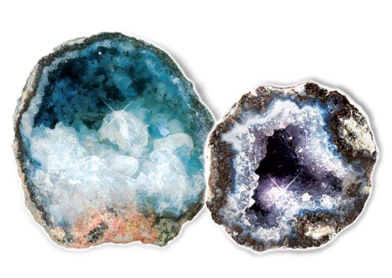 Geodes, crystals, minerals