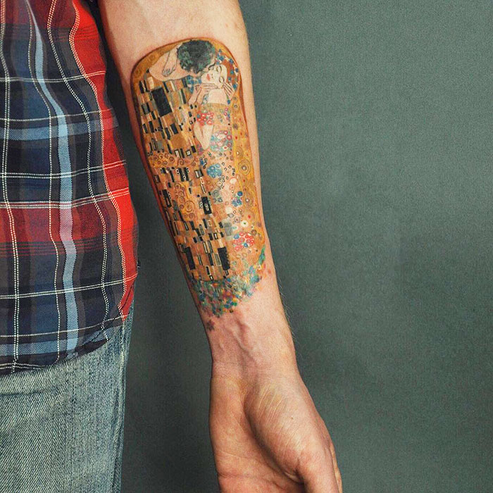 The-Kiss-Gustav-Klimt-tattoo