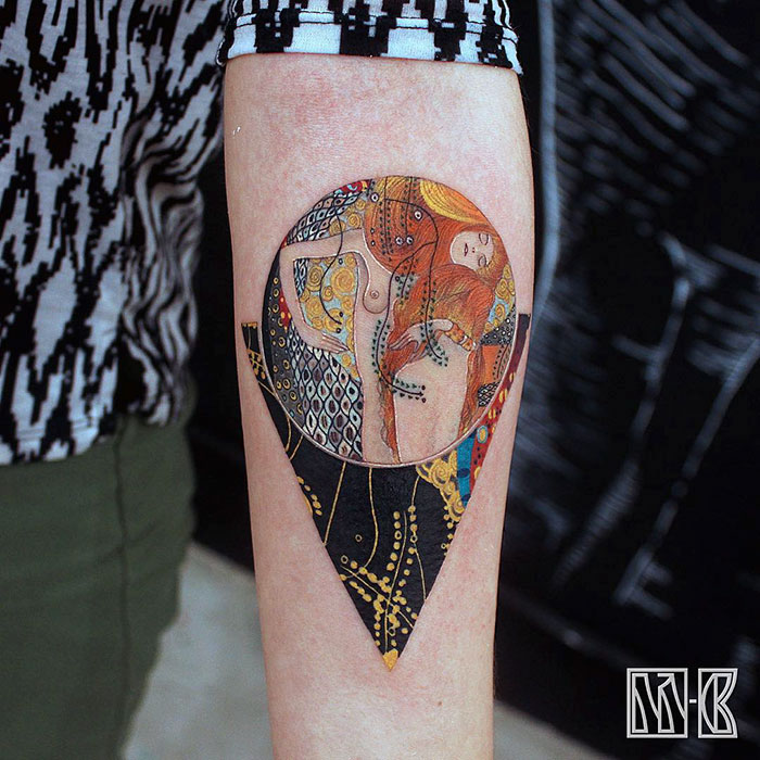 Water-Serpents-Gustav-Klimt-tattoo