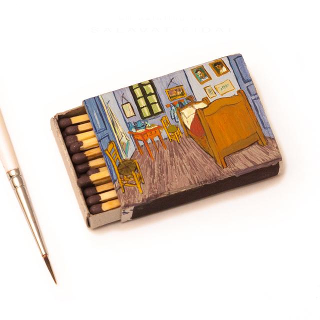 """Van Gogh Matchboxes - """"Bedroom in Arles"""""""