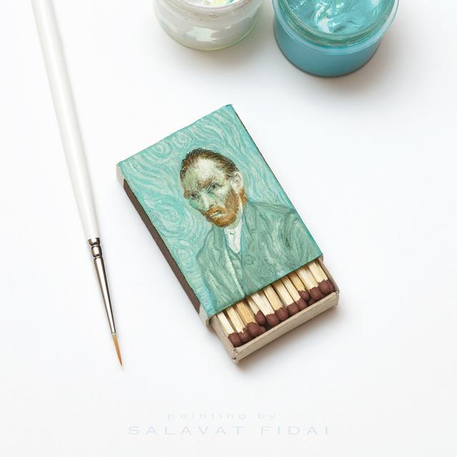 "Van Gogh Matchboxes - ""Self-Portrait"""