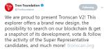 Tronscan V2 provides benefits to TRON [TRX] Super Representatives