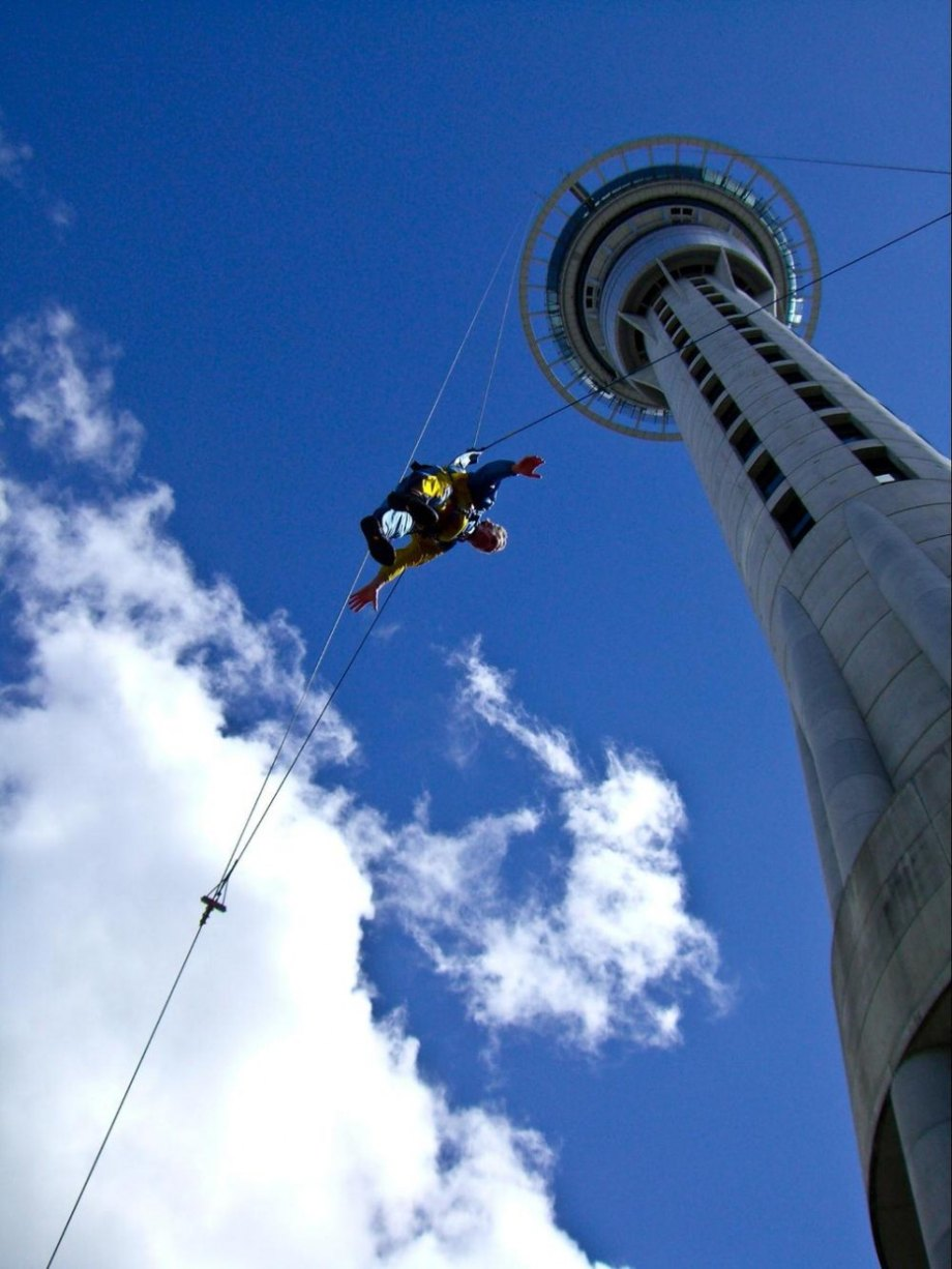 Sky Tower is over 1,000 feet tall and dominates the Auckland skyline. If you're brave enough to leave the observation deck, you can go for a walk on the top of the tower and if you're a maniac, you can even bungee jump off it.