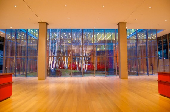 Lobby View to The Times Center & Newsroom