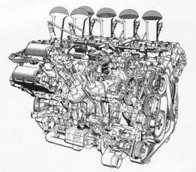 DFV V8 cutaway