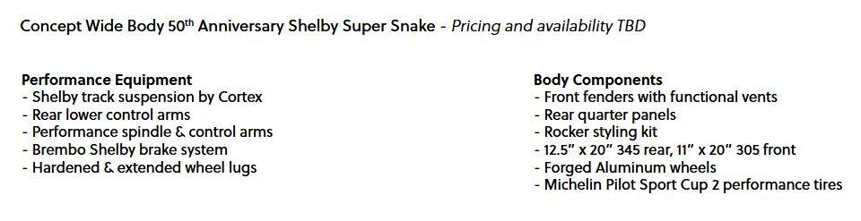 shelby super snake specs