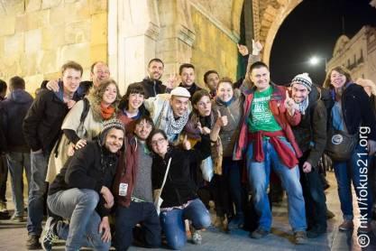 L'équipe Alternatiba avec HK & les saltimbanques
