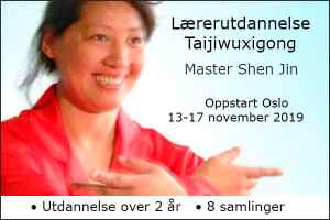 Lærerutdannelse i Taijiwuxigong starter den 13-17 november 2019. Utdannelsen går over 2 år med 8 samlinger.