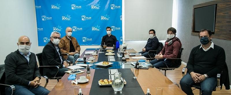 Goyán recorrió una obra en Derqui y se reunió con intendentes de la Zona Norte