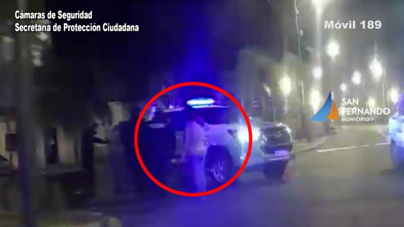 San Fernando, las Cámaras permitieron detener a una pareja que robó una TV de un domicilio