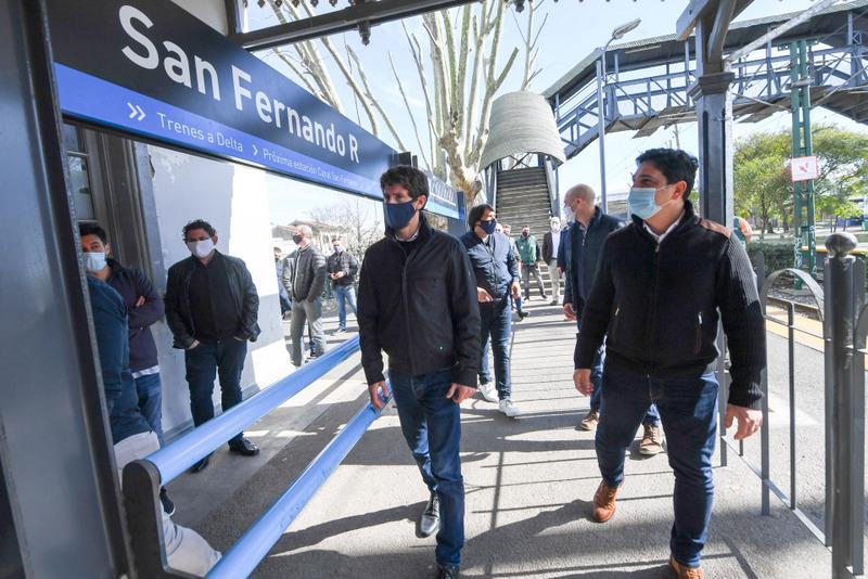 Juan Andreotti firmó convenios con Trenes Argentinos para construir nuevos paseos aeróbicos, parques y plazas