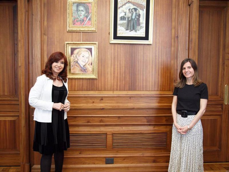 Cristina Fernández y Fernanda Raverta analizaron la ley de Defensa de los Activos del FGS de la ANSES